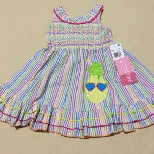 Đầm-xòe-công-chúa-bé-gái-hai-dây-hở-lưng-không-tay-size-2T-hiệu-Goodlad-hàng-xách-tay-mỹ
