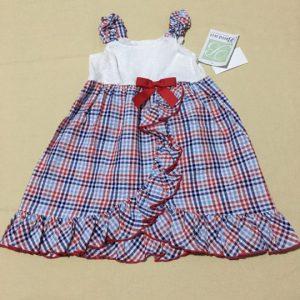 Đầm-xòe-hai-dây-thắt-nơ-hở-lưng-cotton-bé-gái-size-4T6X-hiệu-Bonnie-Jean-hàng-xách-tay-mỹ