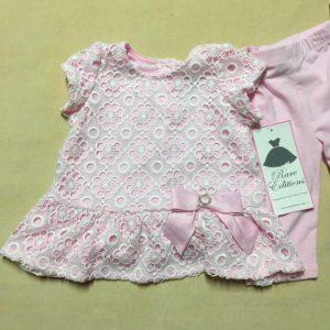 Bộ-đồ-bé-gái-2-tuổi-ngắn-tay-màu-hồng-có-nơ-ở-eo-size-24M-hiệu-Rare-Editions-hàng-xách-tay-mỹ