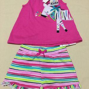 Bộ-đồ-bé-gái-cotton-không-tay-màu-hồng-size-5-hiệu-Kids-headquarter-hàng-xách-tay-mỹ