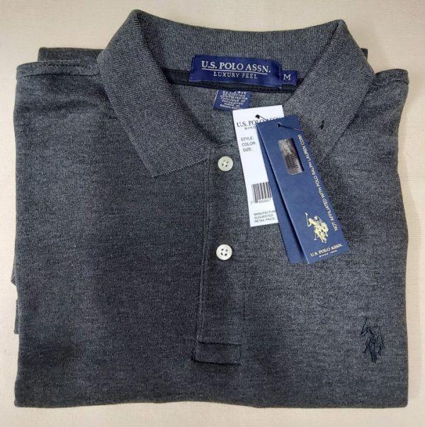 Ao-thun-polo-nam-U.S.-Polo-Assn-slim-fit-luxury-feel-cotton-co-be-ngan-tay-mau-xam-long-chuot-size-M-chinh-hang-hang-my